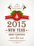 Poster design for Happy New Year and Christmas celebrations. Royalty Free Stock Images