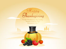 Poster design for Happy Thanksgiving Day celebration. Royalty Free Stock Photography