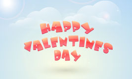 Poster design for Happy Valentine's Day. Royalty Free Stock Images
