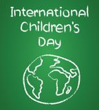 Poster design for International Children day illustration. Poster design for International Childrens day illustration stock illustration