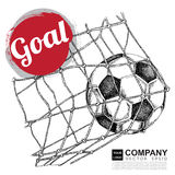 Poster design of soccer ( football ) Royalty Free Stock Photography