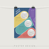 Poster design template Stock Images
