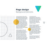 Poster design template, geometric shapes gradient, vector minimal background Royalty Free Stock Photography