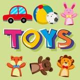 Poster design for toys royalty free illustration
