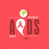 Poster design for World Aids Day concept. Stock Photos
