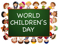 Poster design for world children`s day Stock Image