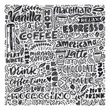 Coffee and desserts vector royalty free illustration