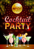 Poster. Disco cocktail party Stock Photography