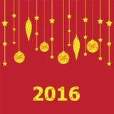 Poster do ano novo imagem de stock