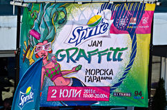 Poster do atolamento dos grafittis do Sprite Imagem de Stock Royalty Free