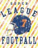 Poster do campeonato de futebol de Grunge Foto de Stock