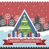 Poster do Feliz Natal Fotografia de Stock Royalty Free