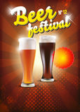 Poster do festival da cerveja - fundo Imagens de Stock