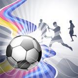 Poster do futebol Imagens de Stock