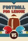 Poster do futebol americano Imagens de Stock Royalty Free