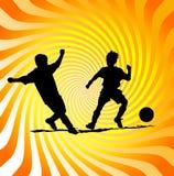 Poster do futebol ou do futebol ilustração do vetor