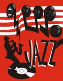 Poster do jazz Fotografia de Stock