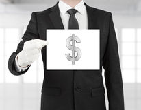 Poster with dollar symbol Royalty Free Stock Images