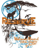 Poster dos animais selvagens Fotografia de Stock