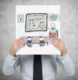 Poster with drawing education Royalty Free Stock Photography