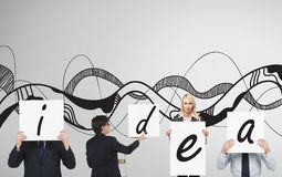 Poster with drawing idea Royalty Free Stock Photo