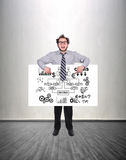 Poster with drawing start up Stock Photography