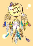 Poster dream catcher Royalty Free Stock Image