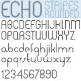 Poster echo black font and numbers on white background, striped Royalty Free Stock Image