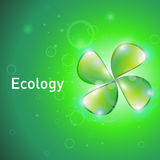 Poster about the ecology. Template for a poster about the ecology Stock Image