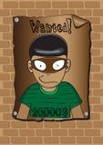 Poster eines gewünschten Banditen Stockfotografie
