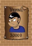 Poster eines gewünschten Banditen Stockfoto