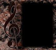 Poster escuro da música de Grunge ilustração stock