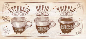 Poster espresso kraft Royalty Free Stock Images