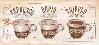 Poster espresso kraft royalty free illustration