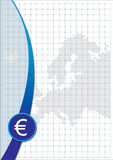 Poster Euro sign and map Royalty Free Stock Photography