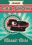 Poster for the exhibition of cars Stock Photo