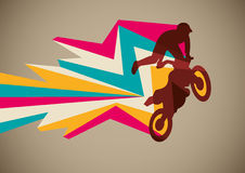 Poster extremo do motorcycling. Foto de Stock Royalty Free