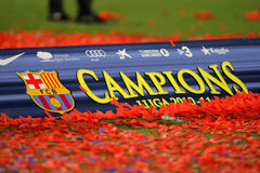 Poster of FC Barcelona league championship Royalty Free Stock Photos