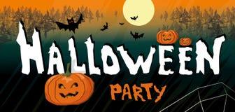Poster feliz de Halloween ilustração do vetor