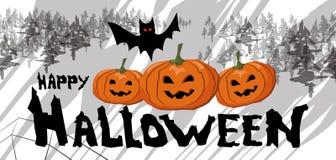 Poster feliz de Halloween ilustração stock