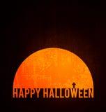 Poster feliz de Halloween Fotos de Stock