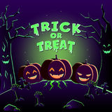 Poster feliz de Halloween Fotografia de Stock Royalty Free