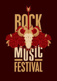 Poster for festival rock music Stock Photo