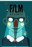 Poster for Film Society. Vector illustration. Royalty Free Stock Images