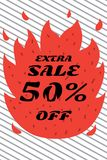 Fiery sales in the store royalty free stock images