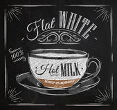 Poster flat white chalk Royalty Free Stock Photography