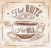 Poster flat white kraft Stock Image