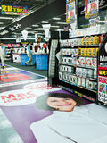 Poster on floor in akihabara Stock Images