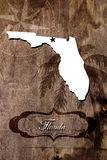 Poster Florida state map outline. Styling for tourism royalty free stock images