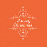 Poster, flyer or banner for Merry Christmas celebration. Merry Christmas celebration poster, banner or flyer with beautiful text and floral design on orange Royalty Free Stock Images